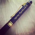 Grawerowanie laserowe na długopisie marki Parker