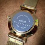 Grawerowanie laserowe znakowarką RMI na wieczku zegarka marki #CLUSE