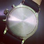 Laserowe grawerowanie wieczka zegarka firmy Timex