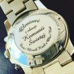 Grawerowanie laserowe na zegarku marki Fossil