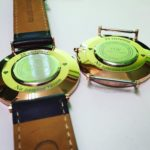 Grawerowanie laserowe wieczka zegarka marki Daniel Wellington