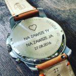 Grawerowanie laserowe na zegarku marki #fossil
