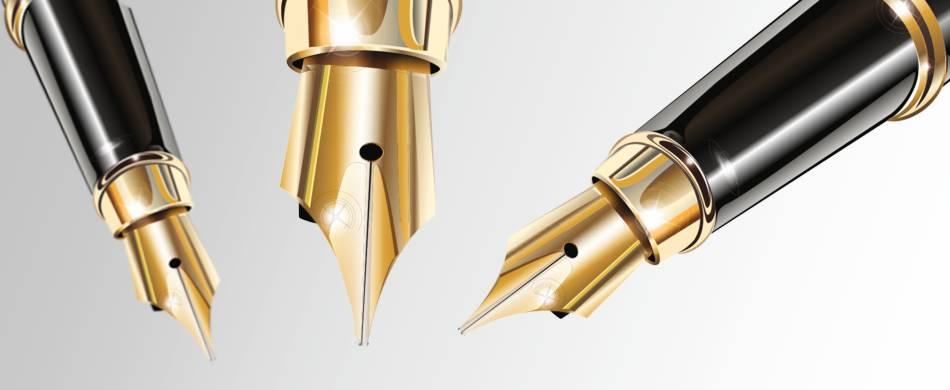 grawerowane pióra i długopisy